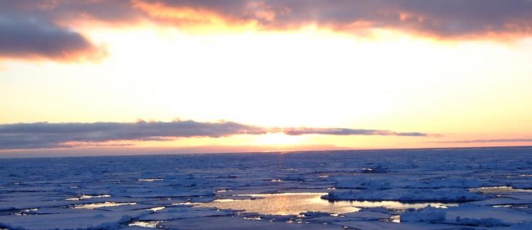 Sun set Bering Sea 2007